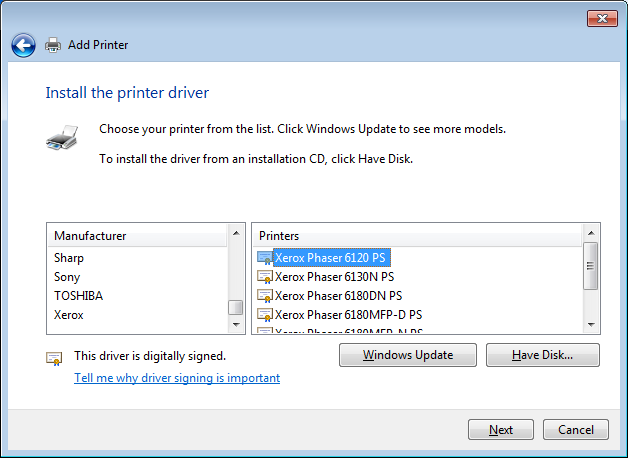 Xerox phaser 6120 driver download.